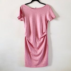 Pinkblush Dresses - PinkBlush Short Sleeve Fitted Maternity Dress
